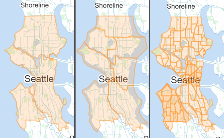 Some Seattle boundaries